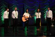 13 April 2019; Connacht team Cáit Cullen, Sheila Murray, Cormac Sammon, Shane McNulty and Brendan Sammon from Aughnasheelan, Leitrim, competing in the Bailéad Ghrúpa catagory during the Scór Sinsir All Ireland Finals at the TF Royal hotel and theatre, Old Westport road in Castlebar, Co Mayo. Photo by Eóin Noonan/Sportsfile