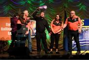 13 April 2019; Connacht team Michael Gunn, Anne Marie Gunn, Eric Murray, Vinnie Gleeson, Margaret Regan, Geraldine O'Connor, Sarah Kane and Peadar McCaffrey from Elphin, Roscommon, competing in the Léiriú catagory during the Scór Sinsir All Ireland Finals at the TF Royal hotel and theatre, Old Westport road in Castlebar, Co Mayo. Photo by Eóin Noonan/Sportsfile