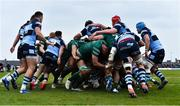 13 April 2019; Connacht on their way to scoring their second try, through Gavin Thornbury, during the Guinness PRO14 Round 20 match between Connacht and Cardiff Blues at The Sportsground in Galway. Photo by Piaras Ó Mídheach/Sportsfile