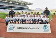 13 April 2019; Tyrrellspass GAA Club Co Westmeath pictured at the Littlewoods Ireland Go Games Provincial Days in Croke Park. This year over 6,000 boys and girls aged between six and twelve represented their clubs in a series of mini blitzes and just like their heroes got to play in Croke Park. Photo by Matt Browne/Sportsfile