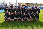 13 April 2019; The Longford RFC team with Leinster players Jack Conan and Bryan Byrne ahead of the Guinness PRO14 Round 20 match between Leinster and Glasgow Warriors at the RDS Arena in Dublin. Photo by Ramsey Cardy/Sportsfile