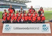 13 April 2019; The Rock GAA Club Co Laois pictured at the Littlewoods Ireland Go Games Provincial Days in Croke Park. This year over 6,000 boys and girls aged between six and twelve represented their clubs in a series of mini blitzes and just like their heroes got to play in Croke Park. Photo by Matt Browne/Sportsfile