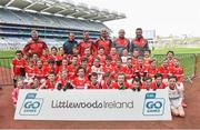 13 April 2019; Edenderry GAA Club Co Offaly pictured at the Littlewoods Ireland Go Games Provincial Days in Croke Park. This year over 6,000 boys and girls aged between six and twelve represented their clubs in a series of mini blitzes and just like their heroes got to play in Croke Park. Photo by Matt Browne/Sportsfile