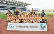 13 April 2019; Killucan GAA Club Co Westmeath pictured at the Littlewoods Ireland Go Games Provincial Days in Croke Park. This year over 6,000 boys and girls aged between six and twelve represented their clubs in a series of mini blitzes and just like their heroes got to play in Croke Park. Photo by Matt Browne/Sportsfile