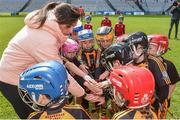 13 April 2019;  Dublin footballer Niamh McEvoy at the Littlewoods Ireland Go Games Provincial Days in Croke Park. This year over 6,000 boys and girls aged between six and twelve represented their clubs in a series of mini blitzes and just like their heroes got to play in Croke Park. Photo by Matt Browne/Sportsfile