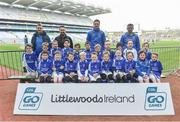 13 April 2019; Straffan GAA Club Co Kildare pictured at the Littlewoods Ireland Go Games Provincial Days in Croke Park. This year over 6,000 boys and girls aged between six and twelve represented their clubs in a series of mini blitzes and just like their heroes got to play in Croke Park. Photo by Matt Browne/Sportsfile