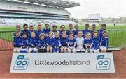 13 April 2019; Thomastown GAA Club Co Kilkenny pictured at the Littlewoods Ireland Go Games Provincial Days in Croke Park. This year over 6,000 boys and girls aged between six and twelve represented their clubs in a series of mini blitzes and just like their heroes got to play in Croke Park. Photo by Matt Browne/Sportsfile
