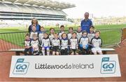 13 April 2019; Lakin Kilbride GAA Club Co Wicklow pictured at the Littlewoods Ireland Go Games Provincial Days in Croke Park. This year over 6,000 boys and girls aged between six and twelve represented their clubs in a series of mini blitzes and just like their heroes got to play in Croke Park. Photo by Matt Browne/Sportsfile