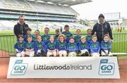 13 April 2019; Shannon Gaels GAA Club Co Longford pictured at the Littlewoods Ireland Go Games Provincial Days in Croke Park. This year over 6,000 boys and girls aged between six and twelve represented their clubs in a series of mini blitzes and just like their heroes got to play in Croke Park. Photo by Matt Browne/Sportsfile