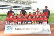 13 April 2019; Eire Og GAA Club Co Carlow pictured at the Littlewoods Ireland Go Games Provincial Days in Croke Park. This year over 6,000 boys and girls aged between six and twelve represented their clubs in a series of mini blitzes and just like their heroes got to play in Croke Park. Photo by Matt Browne/Sportsfile