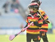 13 April 2019; Realtin Ni Mhidheach Nic Giolla Chriosta age 7 from Ardclough GAA Club Co Kildare at the Littlewoods Ireland Go Games Provincial Days in Croke Park. This year over 6,000 boys and girls aged between six and twelve represented their clubs in a series of mini blitzes and just like their heroes got to play in Croke Park. Photo by Matt Browne/Sportsfile