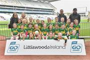 13 April 2019; Kildangan GAA Club Co Kildare pictured at the Littlewoods Ireland Go Games Provincial Days in Croke Park. This year over 6,000 boys and girls aged between six and twelve represented their clubs in a series of mini blitzes and just like their heroes got to play in Croke Park. Photo by Matt Browne/Sportsfile