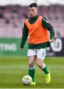 12 April 2019; Lee McLaughlin of Republic of Ireland prior to the SAFIB Centenary Shield Under 18 Boy's International match between Republic of Ireland and England at Dalymount Park in Dublin. Photo by Ben McShane/Sportsfile