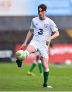 12 April 2019; Brandon Bermingham of Republic of Ireland prior to the SAFIB Centenary Shield Under 18 Boy's International match between Republic of Ireland and England at Dalymount Park in Dublin. Photo by Ben McShane/Sportsfile