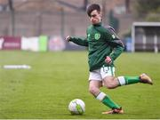 12 April 2019; Adam Lynch of Republic of Ireland prior to the SAFIB Centenary Shield Under 18 Boy's International match between Republic of Ireland and England at Dalymount Park in Dublin. Photo by Ben McShane/Sportsfile