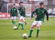 12 April 2019; Jack Doherty of Republic of Ireland prior to the SAFIB Centenary Shield Under 18 Boy's International match between Republic of Ireland and England at Dalymount Park in Dublin. Photo by Ben McShane/Sportsfile
