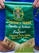 12 April 2019; A detailed view of the Republic of Ireland pennant prior to the SAFIB Centenary Shield Under 18 Boy's International match between Republic of Ireland and England at Dalymount Park in Dublin. Photo by Ben McShane/Sportsfile