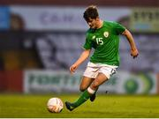 12 April 2019; Donal Higgins of Republic of Ireland during the SAFIB Centenary Shield Under 18 Boys' International match between Republic of Ireland and England at Dalymount Park in Dublin. Photo by Ben McShane/Sportsfile
