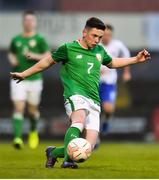 12 April 2019; Corey McBride of Republic of Ireland during the SAFIB Centenary Shield Under 18 Boys' International match between Republic of Ireland and England at Dalymount Park in Dublin. Photo by Ben McShane/Sportsfile