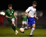 12 April 2019; Ethan Cartwright of England during the SAFIB Centenary Shield Under 18 Boys' International match between Republic of Ireland and England at Dalymount Park in Dublin. Photo by Ben McShane/Sportsfile