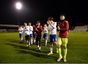 12 April 2019; England players celebrate following the SAFIB Centenary Shield Under 18 Boys' International match between Republic of Ireland and England at Dalymount Park in Dublin. Photo by Ben McShane/Sportsfile