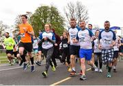 14 April 2019; Runners including Barry Griffin of Cherry Orchard A.C., Co. Dublin, second from right, during the Great Ireland Run 2019 in conjunction with AAI National 10k Championships at Phoenix Park in Dublin. Photo by Sam Barnes/Sportsfile