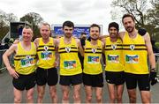 14 April 2019; The North Belfast Harriers team following the Great Ireland Run 2019 in conjunction with AAI National 10k Championships at Phoenix Park in Dublin. Photo by Sam Barnes/Sportsfile