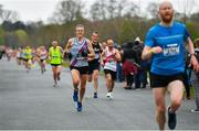 14 April 2019; Colm Cunningham of Dundrum South Dublin A.C., Co. Dublin, centre, competing in the Great Ireland Run 2019 in conjunction with AAI National 10k Championships at Phoenix Park in Dublin. Photo by Sam Barnes/Sportsfile