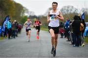 14 April 2019; Ray Hynes of Donore Harriers, Co. Dublin, competing in the Great Ireland Run 2019 in conjunction with AAI National 10k Championships at Phoenix Park in Dublin. Photo by Sam Barnes/Sportsfile