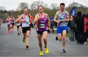 14 April 2019; Willie O'Donoghue of Mooreabbey Milers A.C., Co. Offaly, centre, competing in the Great Ireland Run 2019 in conjunction with AAI National 10k Championships at Phoenix Park in Dublin. Photo by Sam Barnes/Sportsfile