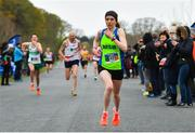 14 April 2019; Catherina Mullen of Metro St. Brigids A.C., Co. Dublin, on her way to winning the women's race during the Great Ireland Run 2019 in conjunction with AAI National 10k Championships at Phoenix Park in Dublin. Photo by Sam Barnes/Sportsfile