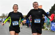 14 April 2019; Pamela Noonan and Ken Noonan competing in the Great Ireland Run 2019 in conjunction with AAI National 10k Championships at Phoenix Park in Dublin. Photo by Sam Barnes/Sportsfile