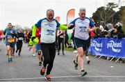 14 April 2019; John Grey of Raheny Shamrock A.C., Co. Dublin, left, and Fintan McGovern, competing in  the Great Ireland Run 2019 in conjunction with AAI National 10k Championships at Phoenix Park in Dublin. Photo by Sam Barnes/Sportsfile
