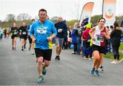 14 April 2019; Billy Costello, left, and Margaret Daly of Naomh Mhuire A.C., Co. Donegal, competing in the Great Ireland Run 2019 in conjunction with AAI National 10k Championships at Phoenix Park in Dublin. Photo by Sam Barnes/Sportsfile