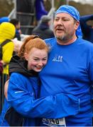 14 April 2019; Charles O'Duffy of Dublin Bay Running Club, Co. Dublin, is congratulated by a supporter following the Great Ireland Run 2019 in conjunction with AAI National 10k Championships at Phoenix Park in Dublin. Photo by Sam Barnes/Sportsfile