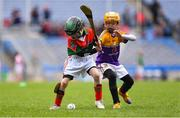 14 April 2019; Seán Gann of The Rower Inistioge, Co Kilkenny, left, in action against Alan Hendrick of Faythe Harriers, Co Wexford, during the Littlewoods Ireland Go Games Provincial Days in Croke Park. This year over 6,000 boys and girls aged between six and twelve represented their clubs in a series of mini blitzes and just like their heroes got to play in Croke Park. Photo by Piaras Ó Mídheach/Sportsfile