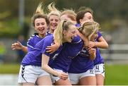 14 April 2019; Wexford WSSL celebrate after Fiona Ryan scored her second goal during the FAI Women's U19 Interleague Cup Final match between Metropolitan GL and Wexford WSSL at Bridgewater Park, Co. Wicklow. Photo by Matt Browne/Sportsfile