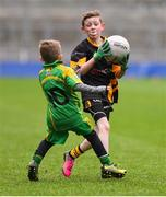 14 April 2019; Finn Higgins of Nobber, Co Meath, in action against Tubberclair, Co Westmeath, during the Littlewoods Ireland Go Games Provincial Days in Croke Park. This year over 6,000 boys and girls aged between six and twelve represented their clubs in a series of mini blitzes and just like their heroes got to play in Croke Park. Photo by Piaras Ó Mídheach/Sportsfile