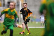 14 April 2019; Finn Higgins of Nobber, Co Meath, during the Littlewoods Ireland Go Games Provincial Days in Croke Park. This year over 6,000 boys and girls aged between six and twelve represented their clubs in a series of mini blitzes and just like their heroes got to play in Croke Park. Photo by Piaras Ó Mídheach/Sportsfile