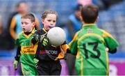 14 April 2019; Caithlan Monaghan of Nobber, Co Meath, in action against Tubberclair, Co Westmeath, during the Littlewoods Ireland Go Games Provincial Days in Croke Park. This year over 6,000 boys and girls aged between six and twelve represented their clubs in a series of mini blitzes and just like their heroes got to play in Croke Park. Photo by Piaras Ó Mídheach/Sportsfile