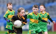 14 April 2019; Áine Murphy of Nobber, Co Meath, during the Littlewoods Ireland Go Games Provincial Days in Croke Park. This year over 6,000 boys and girls aged between six and twelve represented their clubs in a series of mini blitzes and just like their heroes got to play in Croke Park. Photo by Piaras Ó Mídheach/Sportsfile