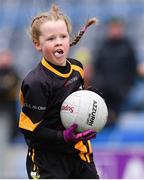 14 April 2019; Emma Condra of Nobber, Co Meath, during the Littlewoods Ireland Go Games Provincial Days in Croke Park. This year over 6,000 boys and girls aged between six and twelve represented their clubs in a series of mini blitzes and just like their heroes got to play in Croke Park. Photo by Piaras Ó Mídheach/Sportsfile