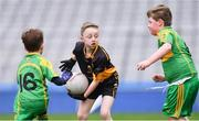 14 April 2019; Action between Nobber, Co Meath, and Tubberclair, Co Westmeath, during the Littlewoods Ireland Go Games Provincial Days in Croke Park. This year over 6,000 boys and girls aged between six and twelve represented their clubs in a series of mini blitzes and just like their heroes got to play in Croke Park. Photo by Piaras Ó Mídheach/Sportsfile