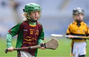 14 April 2019; Tom McVann of Kiltale, Co Meath, during the Littlewoods Ireland Go Games Provincial Days in Croke Park. This year over 6,000 boys and girls aged between six and twelve represented their clubs in a series of mini blitzes and just like their heroes got to play in Croke Park. Photo by Piaras Ó Mídheach/Sportsfile