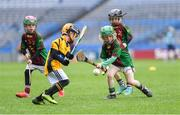14 April 2019; Tom McVann of Kiltale, Co Meath, right, in action against Killian Carroll of Piltown, Co Kilkenny, during the Littlewoods Ireland Go Games Provincial Days in Croke Park. This year over 6,000 boys and girls aged between six and twelve represented their clubs in a series of mini blitzes and just like their heroes got to play in Croke Park. Photo by Piaras Ó Mídheach/Sportsfile
