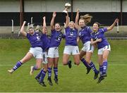 14 April 2019; Wexford WSSL players from left Chloe Mythen, Niamh Browne, Amy Lawlor, Alannah Anglim, Chloe Moynihan and Britney Conroy celebrate after the FAI Women's U19 Interleague Cup Final match between Metropolitan GL and Wexford WSSL at Bridgewater Park, Co. Wicklow.  Photo by Matt Browne/Sportsfile