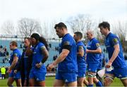 13 April 2019; Leinster players following their defeat in the Guinness PRO14 Round 20 match between Leinster and Glasgow Warriors at the RDS Arena in Dublin. Photo by Ramsey Cardy/Sportsfile