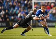 13 April 2019; Ciarán Frawley of Leinster is tackled by Kyle Steyn of Glasgow Warriors during the Guinness PRO14 Round 20 match between Leinster and Glasgow Warriors at the RDS Arena in Dublin. Photo by Stephen McCarthy/Sportsfile