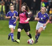 14 April 2019; Erika Browne of Metopplitan GL in action against Wexford WSSL during the FAI Women's U19 Interleague Cup Final match between Metropolitan GL and Wexford WSSL at Bridgewater Park, Co. Wicklow. Photo by Matt Browne/Sportsfile