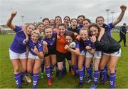 14 April 2019; Wexford WSSL players celebrate after the FAI Women's U19 Interleague Cup Final match between Metropolitan GL and Wexford WSSL at Bridgewater Park, Co. Wicklow. Photo by Matt Browne/Sportsfile
